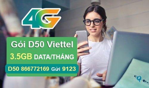 Đăng ký gói D50 của Viettel nhận ngay 3.5GB cho Dcom giá 50.000đ