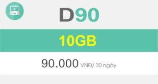 Đăng ký gói D90 của Viettel nhận ngay 10GB cho Dcom giá chỉ 90.000đ