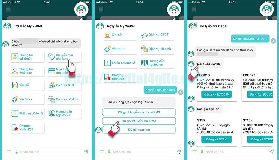 Cách kiểm tra khuyến mãi qua ứng dụng My Viettel