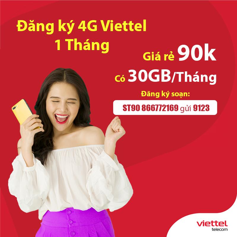 Hướng dẫn cách đăng ký 4G Viettel 1 tháng 10k, 20k, 50k, 70k, 90k