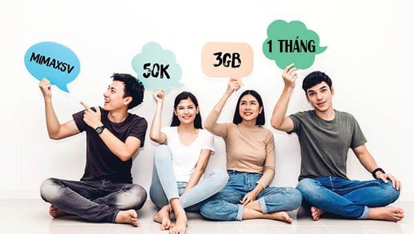 Đăng ký 4G Viettelsinh viên 1 tháng giá chỉ 50.000đ