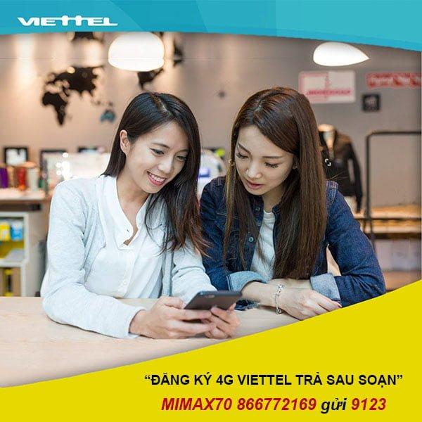 Hướng dẫn đăng ký 4G cho thuê bao trả sau Viettel ưu đãi đến 30GB