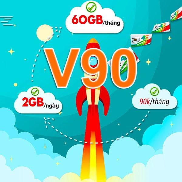 Đăng ký gói V90 Viettel ưu đãi 60GB Data/tháng + 50 phút ngoại mạng