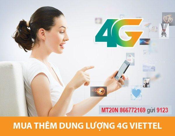 Hướng dẫn cách mua thêm dung lượng 4G Viettel từ 3GB – 5GB
