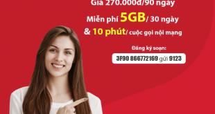 Đăng Ký Gói 3F90 Viettel KM 15GB & Gọi Nội Mạng Miễn Phí