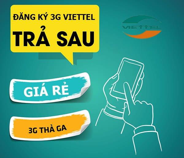 Cách đăng ký các gói cước 3G Viettel trả sau mới nhất năm 2019