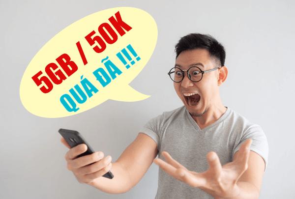 Gói XL50 Viettel ưu đãi khủng 5GB giá rẻ chỉ 50.000đ