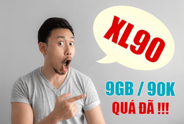 Gói XL90 Viettel ưu đãi 9GB Data giá chỉ 90.000đ