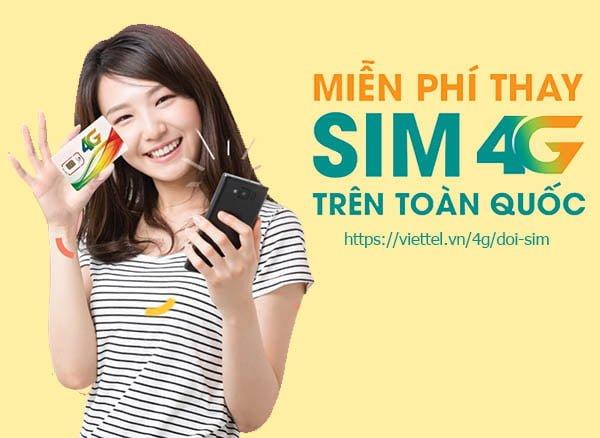 Cách đổi Sim 4G Viettel ngay tại nhà nhanh & không tốn phí