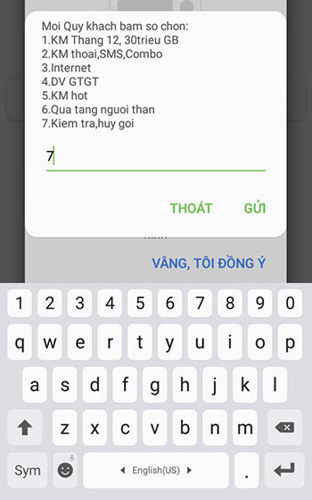 Hủy gói cước 3G Viettel bằng *098#