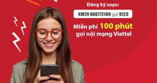 Đăng Ký 100 Phút Gọi Nội Mạng Viettel Chỉ 29.000đ Với Gói KM29
