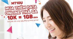Đăng ký gói MT10U Viettel có ngay 1GB dùng trong 24h chỉ 10.000đ