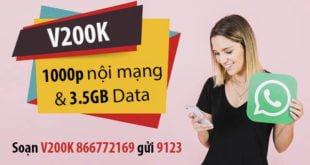 Đăng ký gói V200K Viettel nhận 3.5GB & 1000 phút nội mạng chỉ 200.000đ