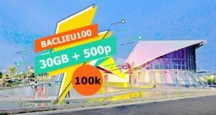 Đăng ký gói BACLIEU100 Viettel ưu đãi 30GB & miễn phí gọi nội mạng