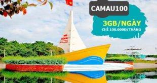 Đăng ký gói CAMAU100 Viettel 3GB/ngày & gọi nội mạng dưới 30 phút