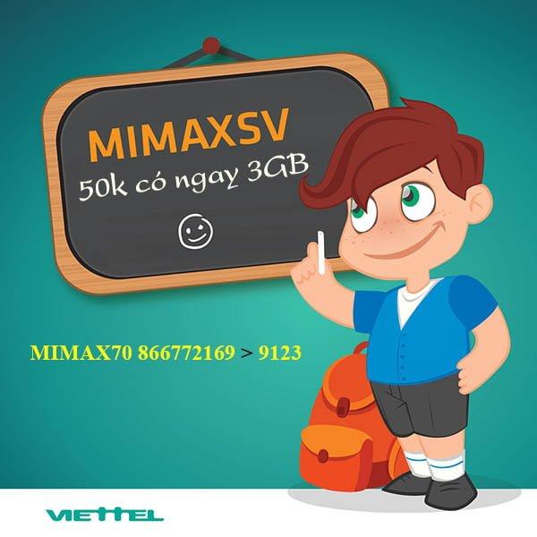 Đăng ký MimaxSV 4G Viettel nhận 3GB giá 50.000đ được không?