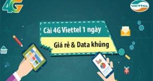 Làm sao để cài đặt 4G Viettel 1 ngày cho điện thoại di động?