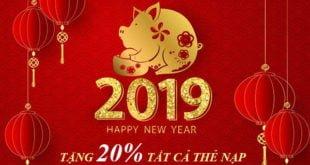 MỪNG TẾT KỶ HỢI - Viettel tặng 20% giá trị thẻ nạp 31/01 - 01/02/2019