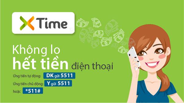 Ứng tiền Viettel qua tính năng mở rộng Xtime 5511