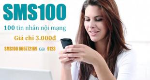 Đăng ký 100 tin nhắn nội mạng Viettel, kích hoạt gói SMS100 qua 170