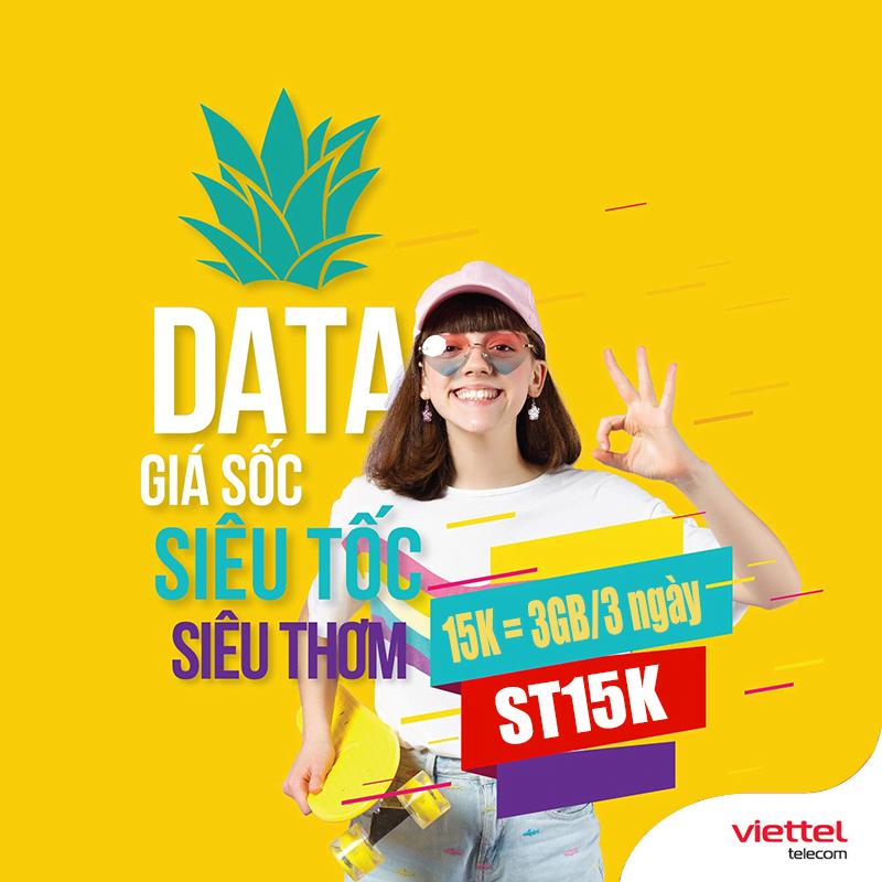 Đăng Ký Gói ST15K Viettel Miễn Phí 3GB Data 3 Ngày Giá 15.000đ