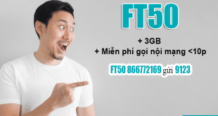 Đăng ký gói FT50 Viettel dễ dàng bằng tin nhắn