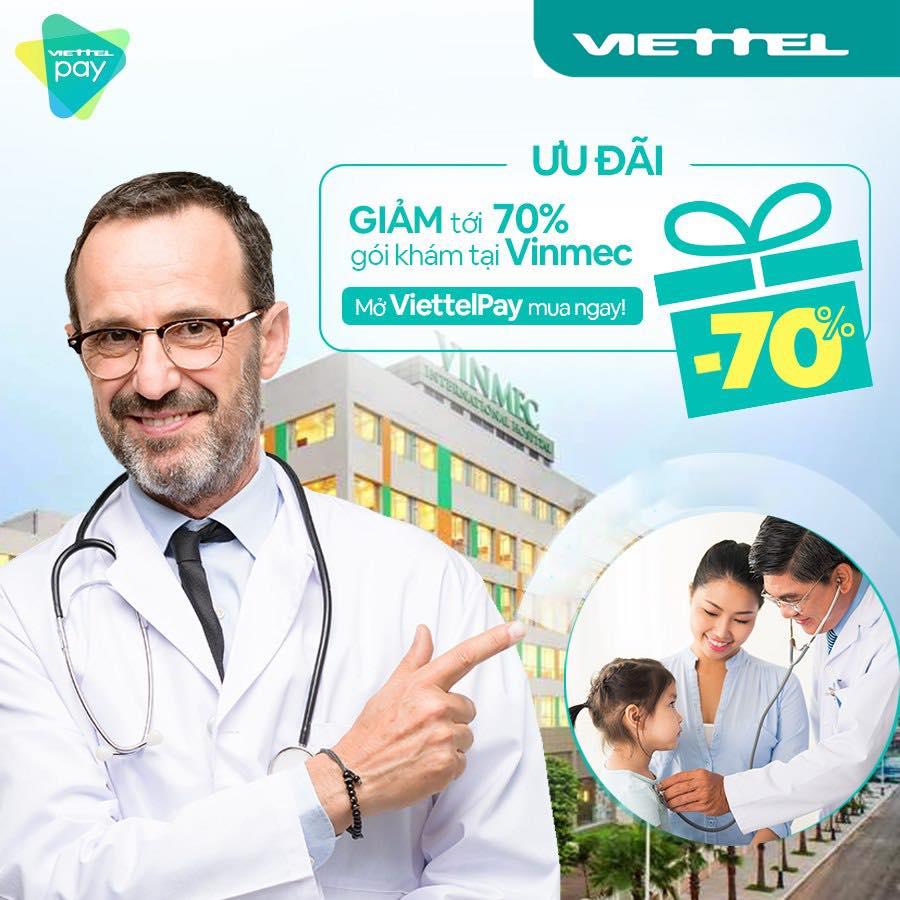 Giảm đến 70% gói khám sức khỏe Winmec khi thanh toán qua Viettelpay