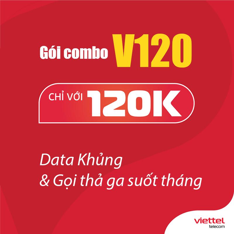 Gói V120 Viettel miễn phí 60GB Data/Tháng giá rẻ 120k