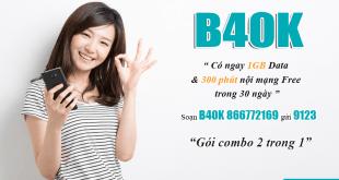 Cách đăng ký gói B40K Viettel đơn giản bằng tin nhắn
