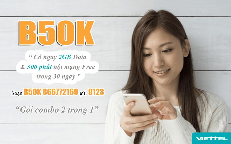 Đăng ký gói B50K Viettel dễ dàng bằng tin nhắn
