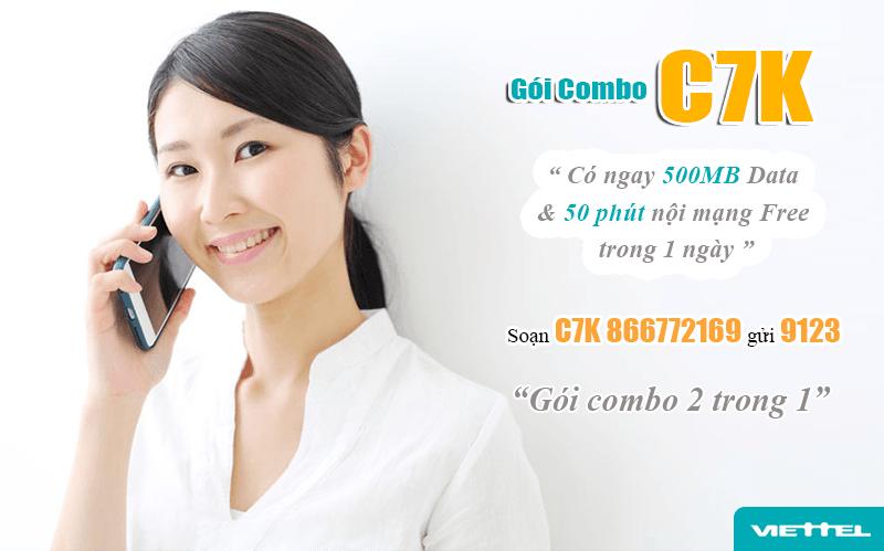 Đăng ký gói C7K Viettel dễ dàng bằng tin nhắn