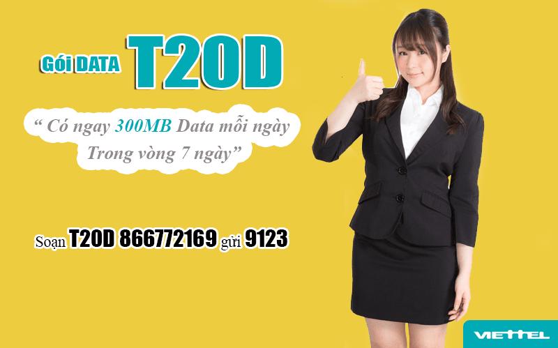 Đăng ký gói T20D Viettel dễ dàng bằng tin nhắn gửi tổng đài