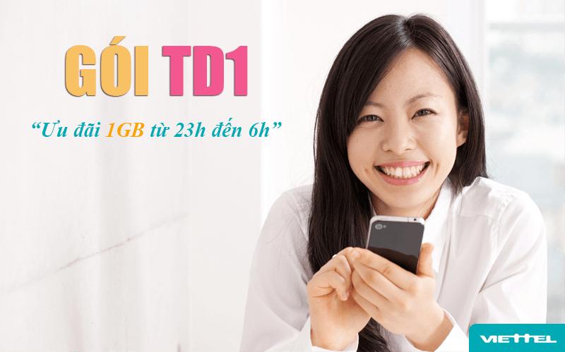 Đăng ký gói TD1 Viettel có ngay 1GB sử dụng internet