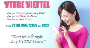 Đăng ký gói VTTRE Viettel dễ dàng bằng tin nhắn