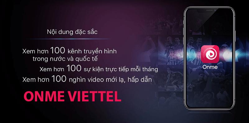 Đăng ký Onme Viettel miễn phí Data 3G/4G Viettel