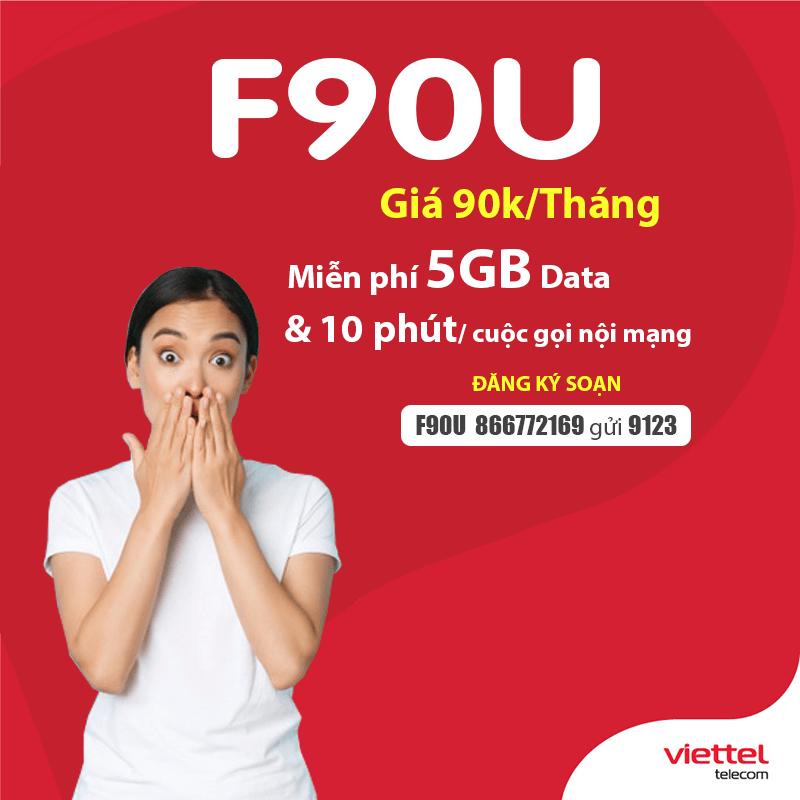 Soạn tin nhắn đăng ký gói F90U Viettel thật dễ dàng