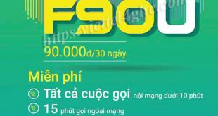 Gói F90U Viettel ưu đãi hấp dẫn chỉ 90.000đ