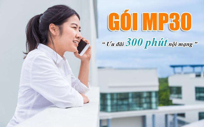 Đăng ký gói MP30 Viettel có 300 phút gọi nội mạng miễn phí