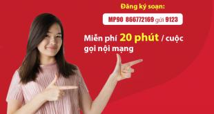 Đăng ký gói cước MP90 Viettel gọi nội mạng thả ga