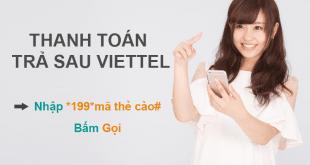 Thanh toán cước trả sau Viettel bằng thẻ cào