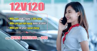Đăng ký gói 12V120 Viettel nhận ưu đãi khủng dùng cả năm