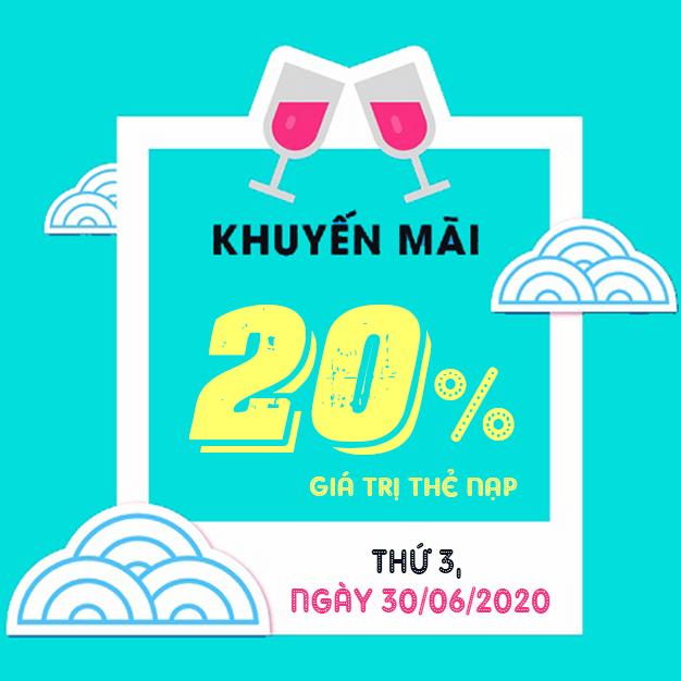 Hot: Viettel khuyến mãi tặng 20% giá trị thẻ nạp ngày 30/06/2020