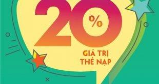 HOT: Viettel khuyến mãi tặng 20% giá trị thẻ nạp ngày 20/08/2020
