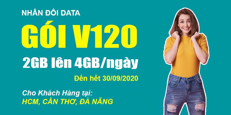 HOT: Viettel gia hạn nhân đôi Data gói V120 đến hết 30/09/2020
