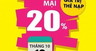 HOT: Viettel khuyến mãi tặng 20% giá trị thẻ nạp 10/10/2020