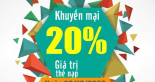 HOT: Viettel khuyến mãi tặng 20% giá trị thẻ nạp 20/10/2020