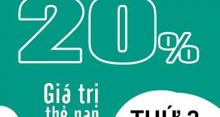 HOT: Viettel tặng 20% giá trị thẻ nạp ngày vàng 30/11/2020