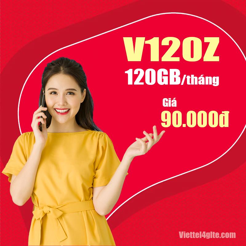 Đăng ký gói cước V120Z Viettel nhận 120GB giá chỉ 90.000đ/tháng