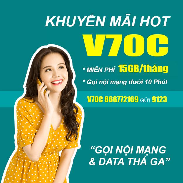 Đăng Ký Gói V70C Viettel Miễn Phí 15GB & Gọi Nội Mạng Chỉ 70.000đ