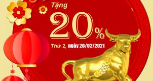 HOT: Viettel tặng 20% giá trị thẻ nạp ngày 20/02/2021